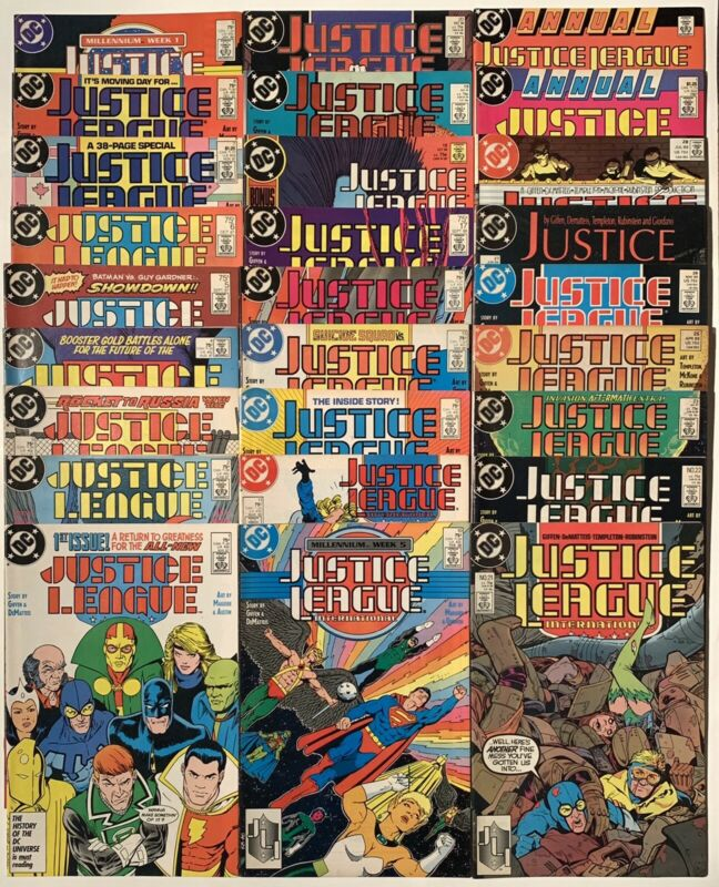 Justice League International 27x Issue Lot, 1-14, 17-23, 25-28 Annual 1-2 Batman