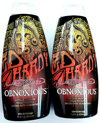 Lot Of 2 Ed Hardy Obnoxious Indoor Tanning Bed Lotion W/ ...