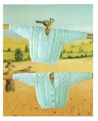 Baby boy twin set. Baby Cardigan + sweater knitting pattern in DK, - Twin Set Knitting Pattern