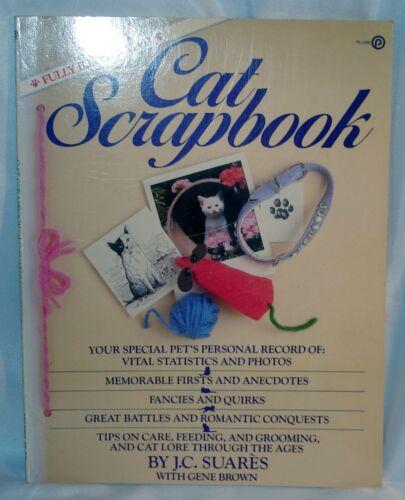 CAT SCRAPBOOK Paper ~ JC Suares - Record Vital Stats Firsts & Anecdotes 1982 NOS