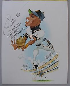 Large-Caricature-Painting-Signed-By-WILLIE-MAYS-1970s