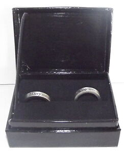 Twilight Eclipse Marry Me Change Me Handmade Metal Ring Set Sz. 10 & 7 NIB