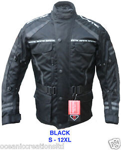 Mens Armoured Waterproof Motor Cycle Bike Racing Cordura Jacket - All WEATHER
