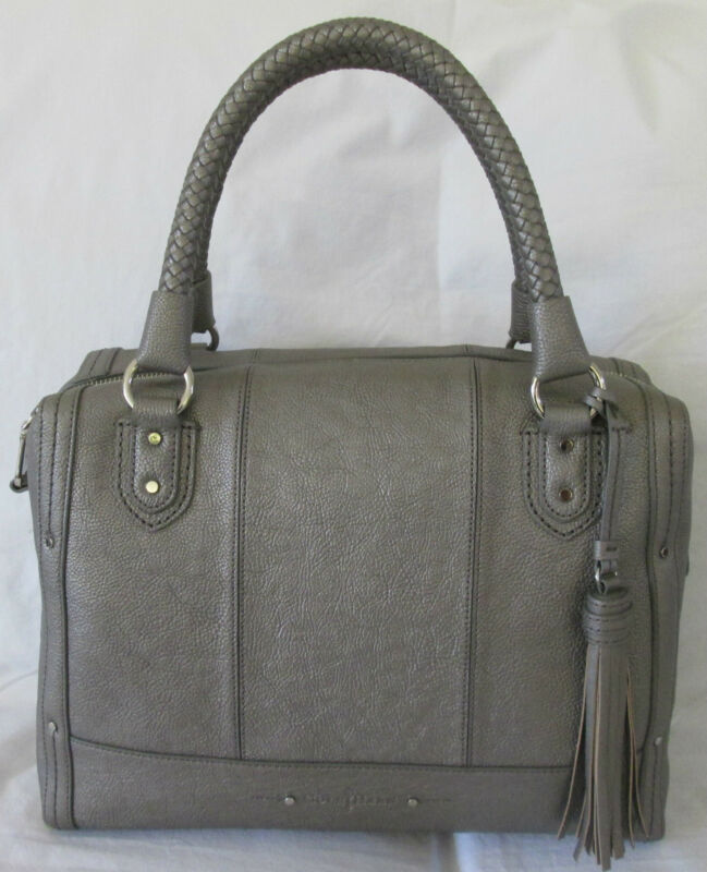 Cole Haan Varick Kendra Satchel Bag Gunsmoke Gray B40495 NWT