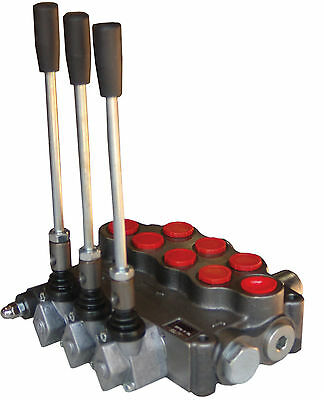 Hydraulic Directional Valve, Tandem Center, 3 Spool, 18 GPM New