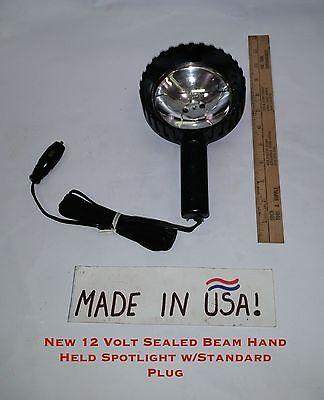12 Volt Sealed Beam Hand Held Spotlight with Standard Plug Beam 12 Volt Spotlight