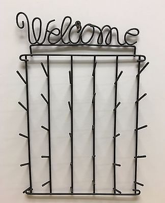 WELCOME DESIGN METAL ORGANIZING RACK HOLDS 30 SPOOLS OF THREAD OR BOBBINS NEW!