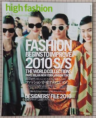 FASHION BEGINS TO IMPROVE 2010 S/S high fashion Japanese Magazine Feb 2010
