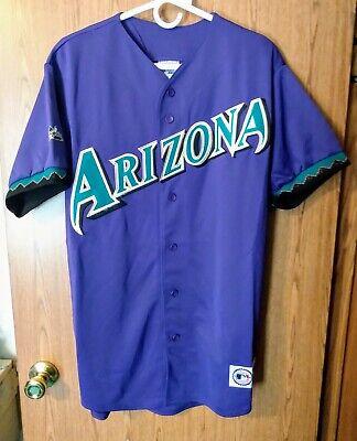 Vintage Arizona Diamondbacks MLB Mens Purple Baseball Jersey Size Large Majestic