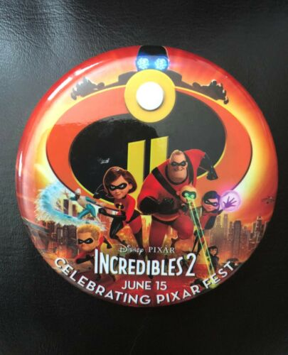 """Disney """"INCREDIBLES 2"""" New DISNEY Celebrating Pixar Fest Pin Badge Pinback"""