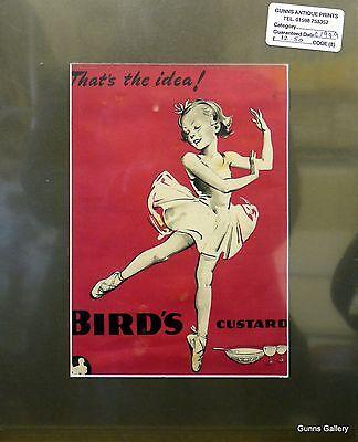 Original Vintage Advertisement mounted ready to frame Birds Custard 1949