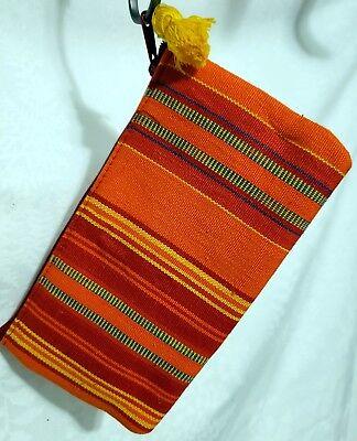 HAND-WOVEN COTTON GUATEMALA PENCIL LIPSTICK COSMETIC CASE BAG Eco Friendly Lipstick