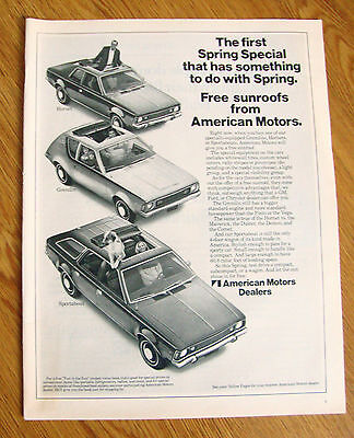 1971 American Motors Ad Hornet Gremlin Sportabout