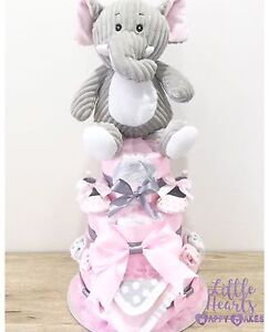 Super Cute Girls Pink & Grey Nappy Cake! Pimpama Gold Coast North Preview