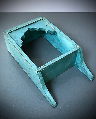 ANTIQUE VINTAGE INDIAN FURNITURE. MUGHAL ARCHED DISPLAY UNIT. TURQUOISE.