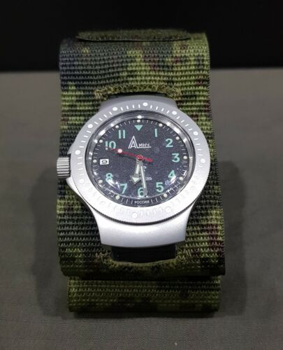 Original Russian Army mechanical wrist watch 6e4-2. Ratnik set.