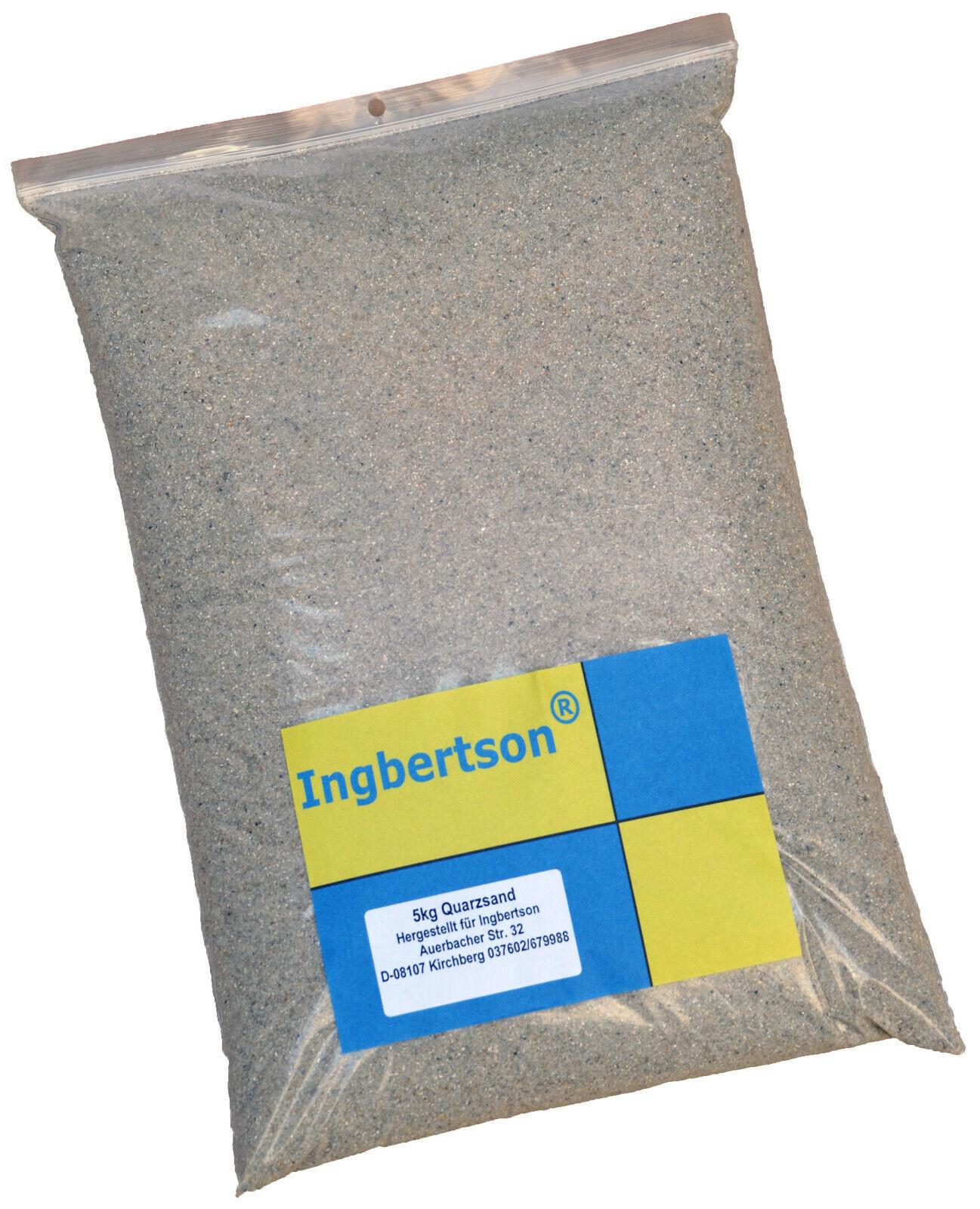 (EUR 2,80/kg) 5kg Ingbertson® Quarzsand 1 bis 1,6 mm Sand Filtersand Filterkies