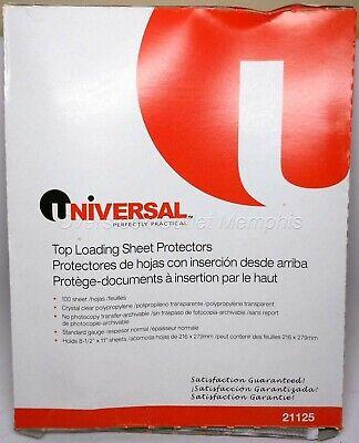 Universal 3-hole Top-loading Sheet Protectors Standard Gauge 100cnt 21125