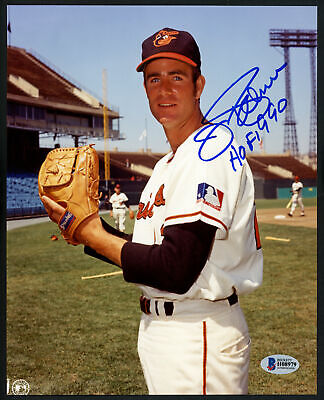 "JIM PALMER AUTOGRAPHED SIGNED 8X10 PHOTO ORIOLES ""HOF 1990"" BECKETT BAS 153143"