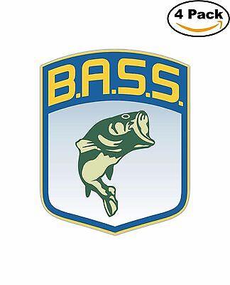 Bass Fishing Fish Decal Diecut Sticker 4 Stickers
