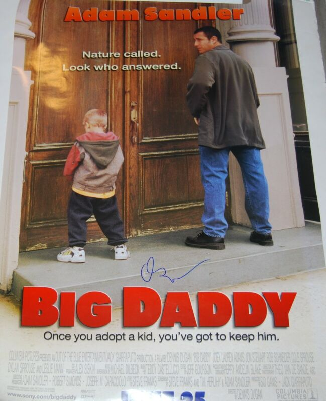 ADAM SANDLER signed (BIG DADDY) 27X40 Movie Poster autographed PROOF W/COA