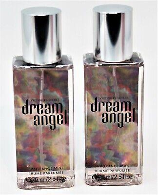 x2 Victoria Secret DREAM ANGEL Body Fragrance Mist Mini Travel Sz 2.5 oz SWEET