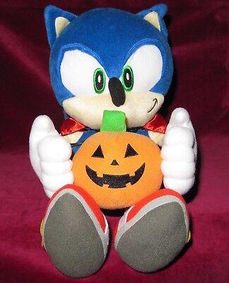 SEGA SONIC THE HEDGEHOG JOYPOLIS LIMITED HALLOWEEN PLUSH TOY! PUMPKIN DRACULA - Halloween Hedgehog