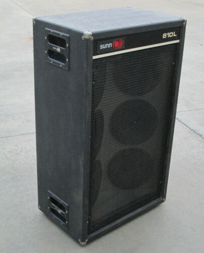 "Vintage Sunn 610L 6x10 Guitar Cab 6 x 10"" Speakers"