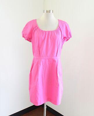 NWT $89 J Crew Pink Poplin Johanna Dress Size 12 Pockets Short Sleeve Party Poplin Party Dress