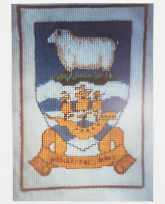 Falkland Islands Crest Counted Cross Stitch Kit - Heraldry Shield Coat of Arms