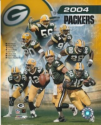 2004 GREEN BAY PACKERS 8X10 COLOR TEAM COLLAGE NFL LICENSED PHOTO FILE