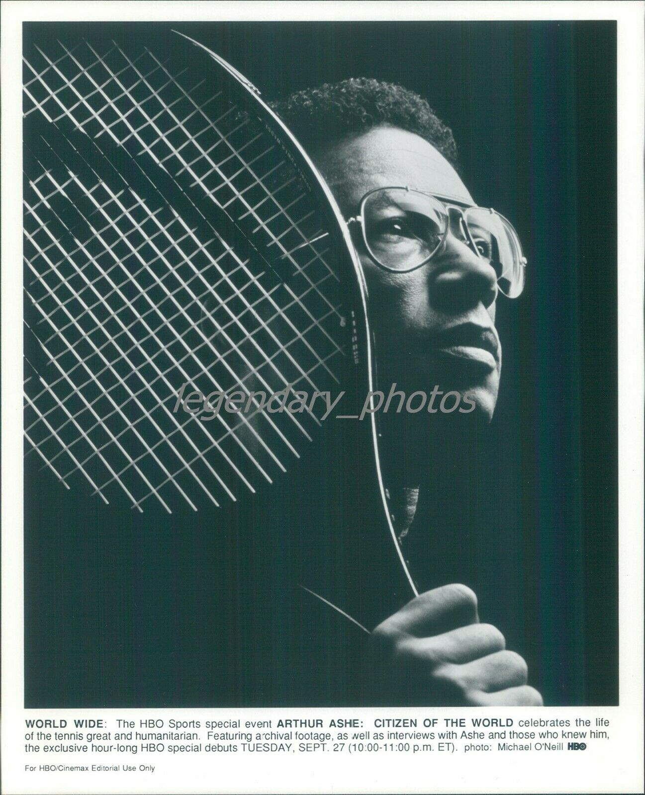 1994 Profile Professional Tennis Player Arthur Ashe Original News Service Photo - $14.99