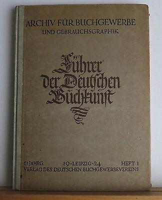 Archiv fur Buchgewerbe und Gebrauchsgraphik 1 1924 Printing Graphic Design Art