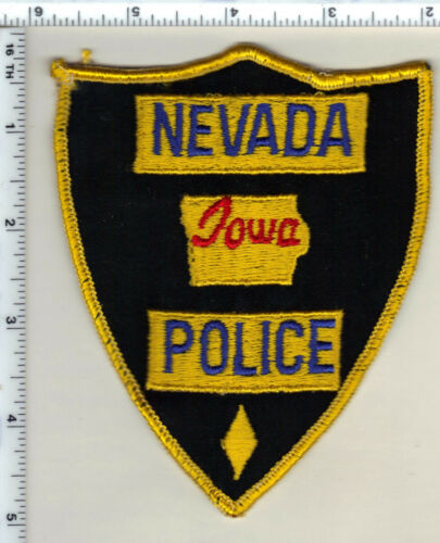 Nevada Police (Iowa) uniform take-off Shoulder Patch from 1990