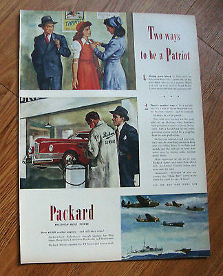 1945 Packard Ad 2 Ways to be a Patriot