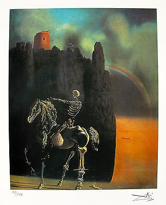 Salvador Dali HORSEMAN OF DEATH Facsimile Signed & Numbered Giclee Art