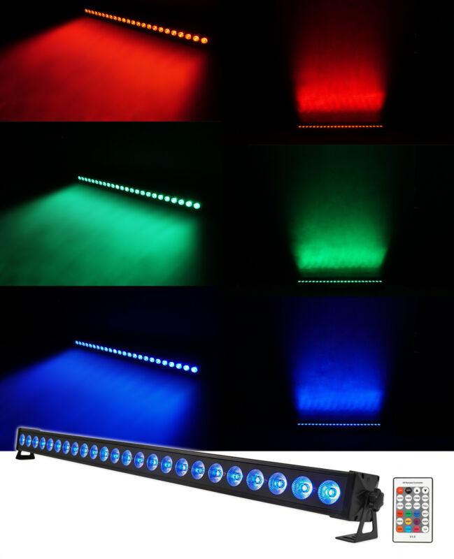 Rockville BATTERY STRIP 24 Rechargeable RGBW Color DJ Wash Light Bar/DMX/Remote