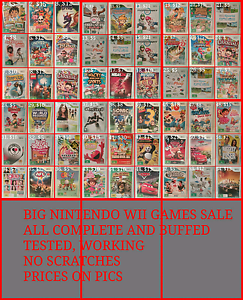 BIG NINTENDO WII GAMES SALE, ALL BUFFED AND COMPLETE  No scratche Lindisfarne Clarence Area Preview