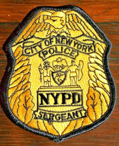 GEMSCO NOS NYPD Collectible Patch POLICE SERGEANT RANK PATCH NY - Original30+