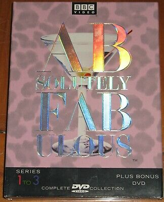 BBC Absolutely Fabulous Complete Series 1-3 4-Disc Set DVD Comedy w/Slipcover