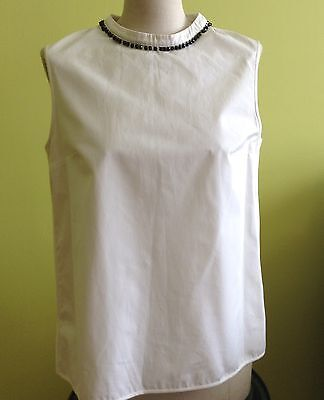'S Max Mara Authentic White blouse, 100% Cottone, Size M, MSRP $350.00