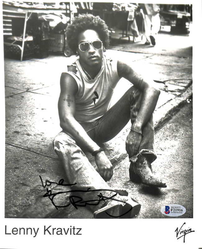 Lenny Kravitz Authentic Signed 8x10 Virgin Music Promotional Photo BAS #F21916