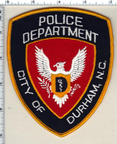 City of Durham Police (North Carolina) Uniform Take-Off Shoulder Patch from 1993