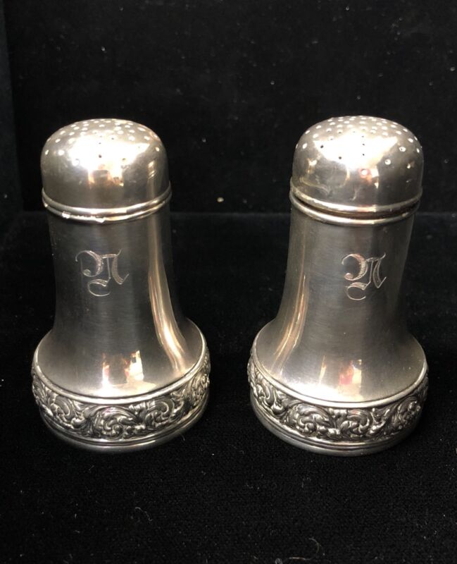 Vintage Tiffany & Co Sterling Silver Salt Pepper Shakers