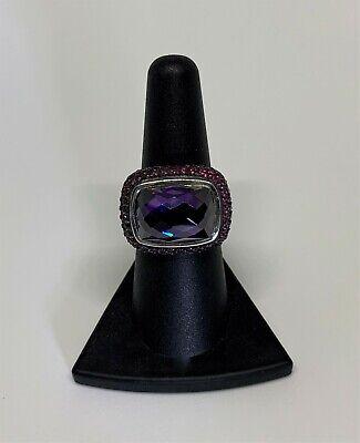 $3,900 David Yurman S.S. 925 Amethyst and Pink Sapphire Waverly Ring Sz 7.25 Amethyst Pink Sapphire Ring