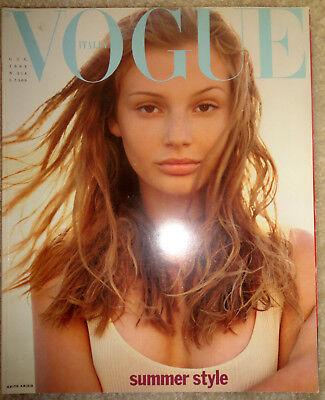 Vogue Italia 1993 Stephanie Seymour Shana Zadrick Annie Leibovitz Lenny Kravitz