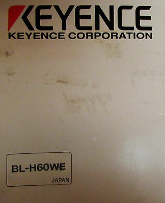 Keyence Bl H60we Bl 600 Series Laser Bar Code Reader Manual And Cd Software