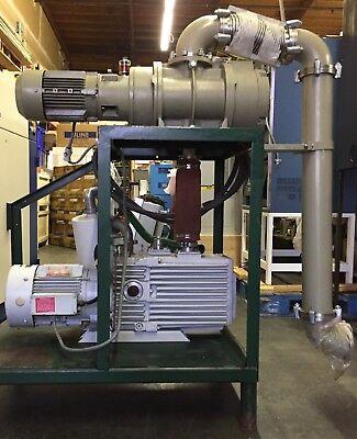 Leybold Trivac D60ac Industrial Vacuum Pump Wpfeiffer Wkp500 Booster Pump