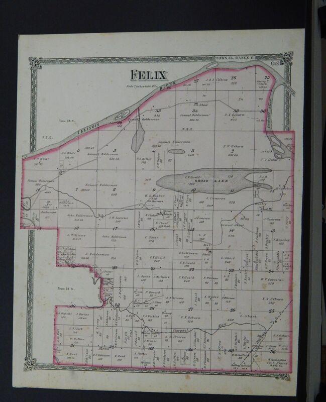 Illinois, Grundy County Maps, 1874 Township of Felix Q2#91