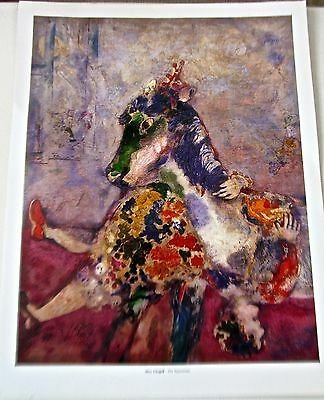 Marc Chagall Poster THE EQUESTRIAN 1927  Rider on Horseback Upside Down 14x11
